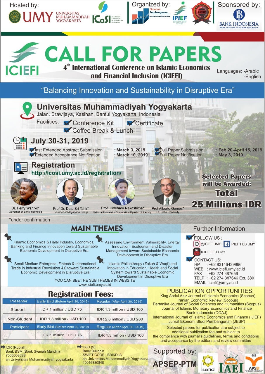 4th International Conference on Islamic Economics and